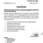 Various Notifications Regarding Upgradation NTDC Employees