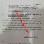 Notification of Regularization Head Nurses on Completion of Three Years' Service