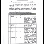 Upgradation Posts District Judiciary & Time Scale by Lahore High Court Lahore