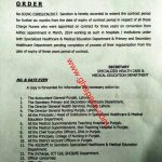 Notification of Extension Six Months Contract Period Charge Nurses Punjab
