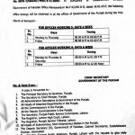 Notification of Office Timings Punjab Govt during the Holy Month of Ramzan