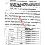 Notification of Regularization Commerce Stream Contract Employees Non-Teaching (BPS-01 to BPS-15)