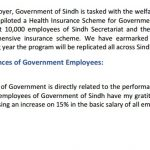 Sindh Govt Increased Salaries 15% of Government Employees in Budget 2017-18