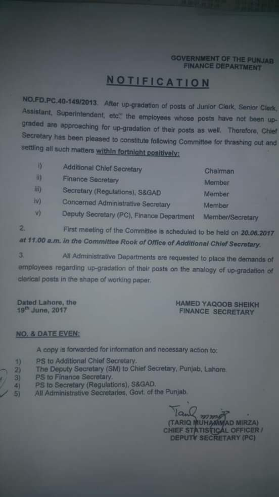 Constitution Committee for Employees who have Not Been Upgraded