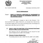 Notification of Grant of Financial Assistance By Federal Government