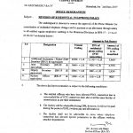 Notification of Provision of Residential Telephone Policy