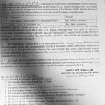 Notification of Mobility Allowance Headmasters & Cluster Guide Teachers
