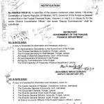 Notification of Deputy Commissioner Instead of District Coordinator Officer