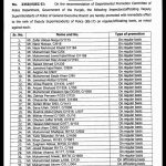 Notification of Promotion of Inspectors to the Rank of DSPs Punjab