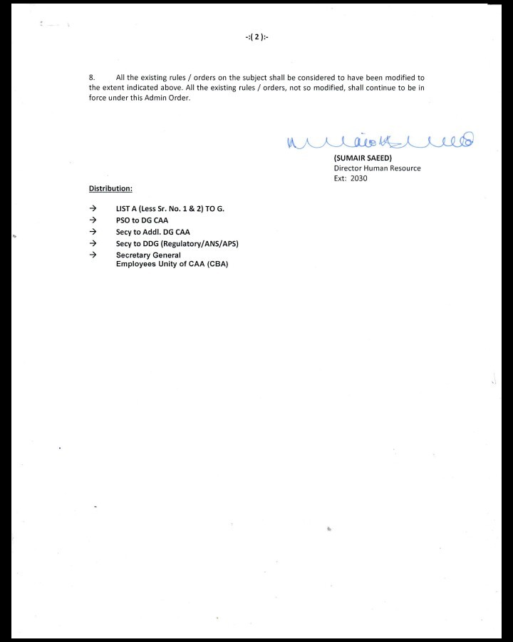 Pay Scales 2017 CAA Employees
