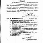 Withdrawn Order Upgradation Posts of Assistant Registrar, Deputy Registrar and Additional Registrars