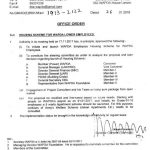 Office Order Housing Scheme WAPDA Lower Grade Employees