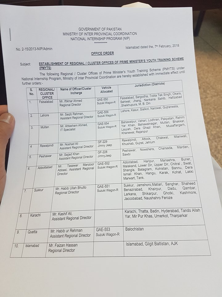 Prime Minister Youth Training