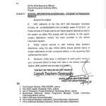 Notification of School Information System (SIS)-Students Attendance Module