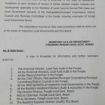 Notification of Time Scale Promotion Local Govt Punjab