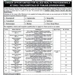 Vacancies Health Department Punjab 2018-Primary & Secondary Healthcare Department