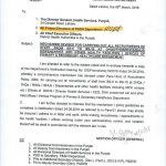 Mechanism Revised for Carrying out All Recruitment of Staff From BPS-05 to BPS-15 at DHQs/RHCs/BHUs/Dispensaries and Other Health Facilities/Offices of Primary & Secondary Healthcare Department