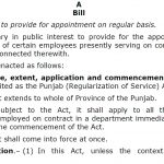 Congratulations-Punjab (Regularization of Service) Act 2018