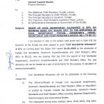 Notification of Grant 50% Civil Secretariat Allowance on Running Basic Pay