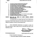 Notification of Ban on Leaves During General Election 2018-Sindh Government