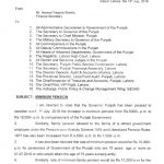 Notification of Minimum Pension 2018 Punjab Government