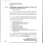 Notification of Precautionary Measures Monsoon Season