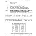 Revision Rates Self Hiring & Hiring of Private Accommodations (House Requisition) Punjab S&GAD