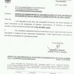 Grant of Honorarium Rs. 35000/- Each ECP Employee on Special Occasion of Eid-ul-Azha