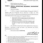Notification of Special Instructions Regarding Transgender Students