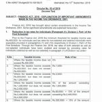 Explanation Important Amendments Income Tax Ordinance 2001 Through Finance Act 2018