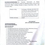 Notification of Revised Office Timings KPK 2018