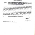 Notification of Grant BPS-17 to Superintendents of the Federal Govt