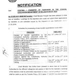 New Schedule Posting Transfer Teaching Staff School Education Department Punjab in Relaxation of Ban