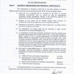 Notification of Ban on Creation of New Posts and Austerity Measures