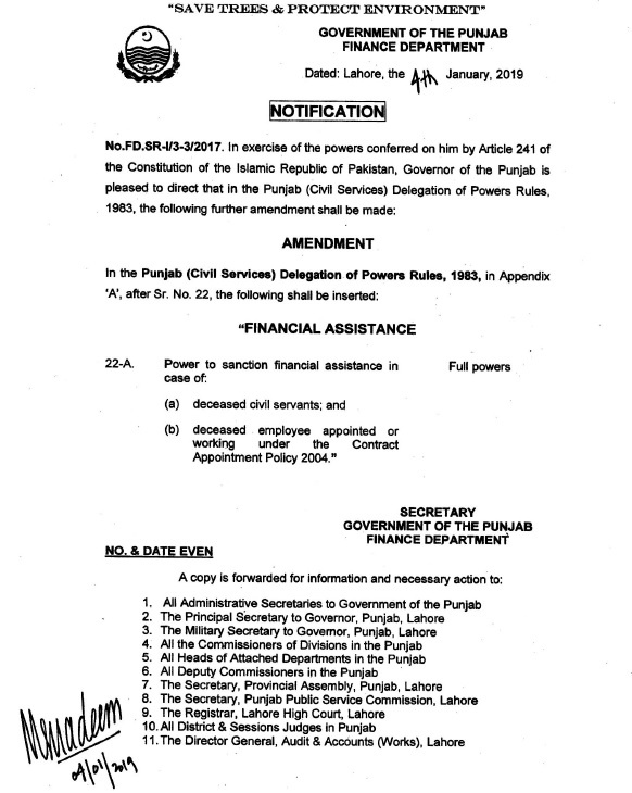 Notification of Financial Assistance Package for Contract Employees Who Die During Service