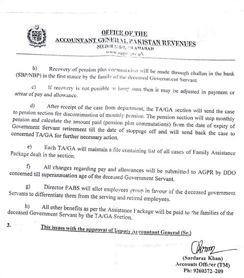 Clarification Regarding Payments of Pay and Allowances under Prime Minister Assistance Package 2014