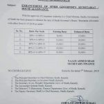 Notification of Enhancement Sindh Governor's Secretariat / House Allowance