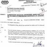 Notification of Clarification Regarding Appoint Under Rule 17-A, Medical Grounds Category A, B, C