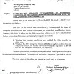 Clarification Regarding Upgradation Computer Personnel