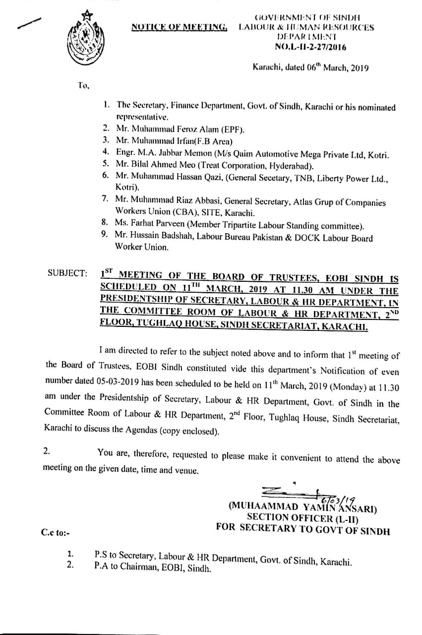 Sindh Employees Old Age Benefits Institution