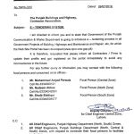 Notification of Introduction E – Tendering System