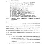 Notification of Special Conveyance Allowance 2019 Punjab Government