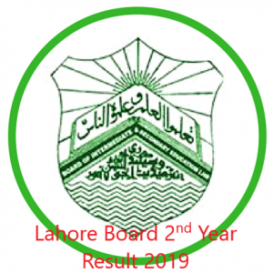 Lahore Board 2nd Year Result 2019