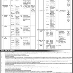 Vacancies in a Federal Government Department BPS-01 to BPS-15