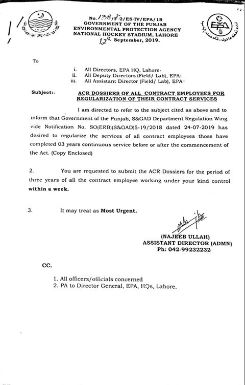 ACRs for Regularization of Services