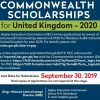 Common Wealth Scholarships for United Kingdom 2020