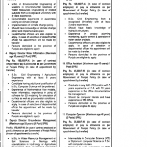 SPRU Irrigation Department Vacancies 2019