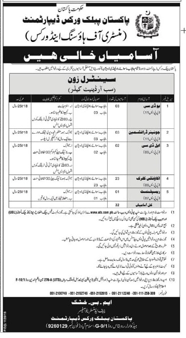 Jobs in Ministry of Housing & Works