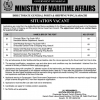 Advertisement of Jobs in Ministry of Maritime Affairs 2019