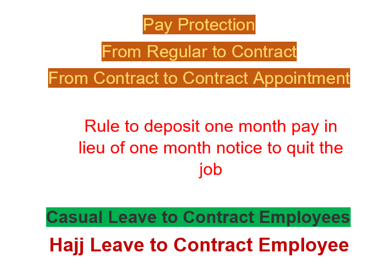 Pay Protection from Regular to Contract